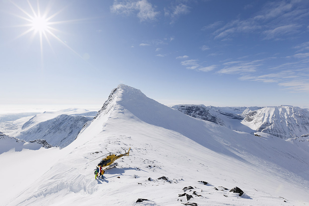 Heli ski the Arctic wilderness.