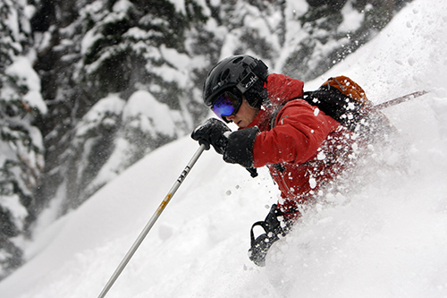 Total Heliski in Powder.