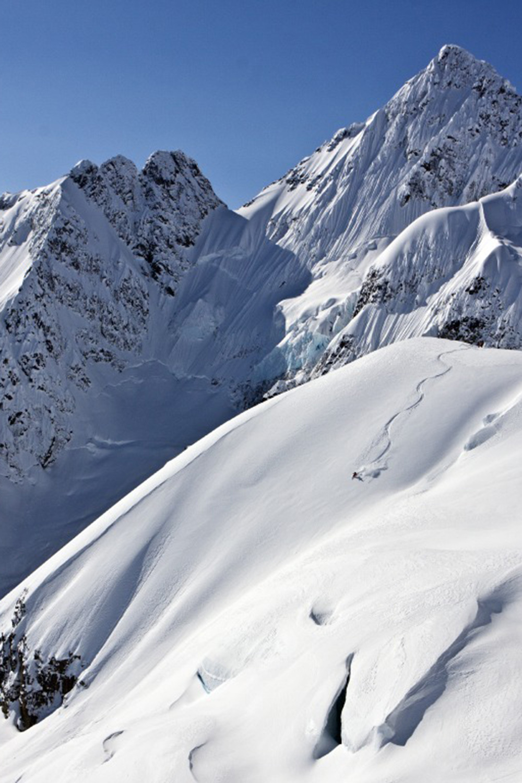 Ski where Alaska meets Canada.