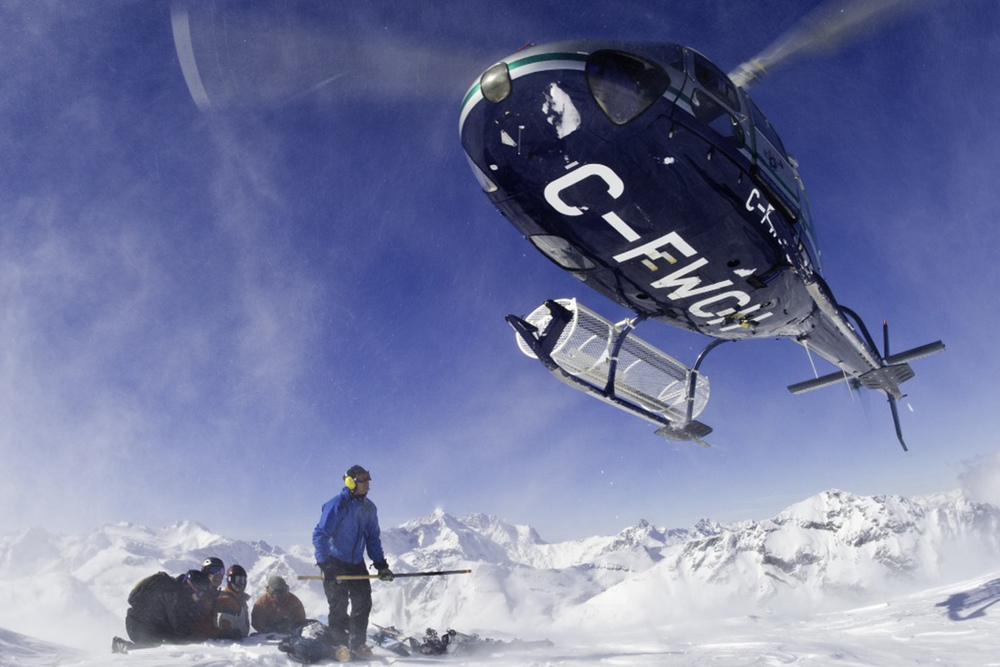 All the guides are certified and have many years of experience heli skiing.