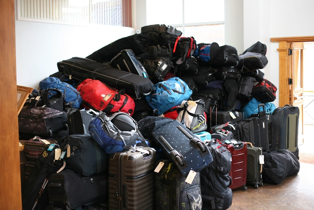 Mountain of Baggage in Ushuaia