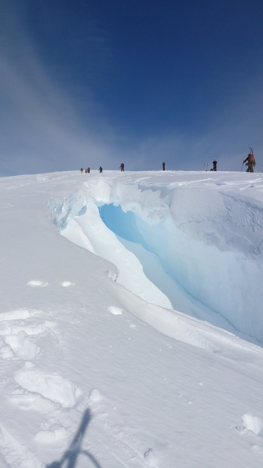Roping Up To Travel Across Ice and Avoid Crevasses
