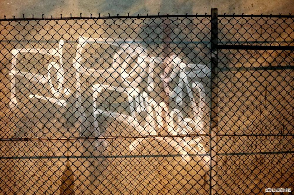 Mur grillagé