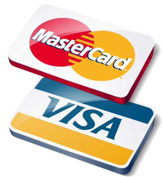 We Accept both Master and Visa Cards