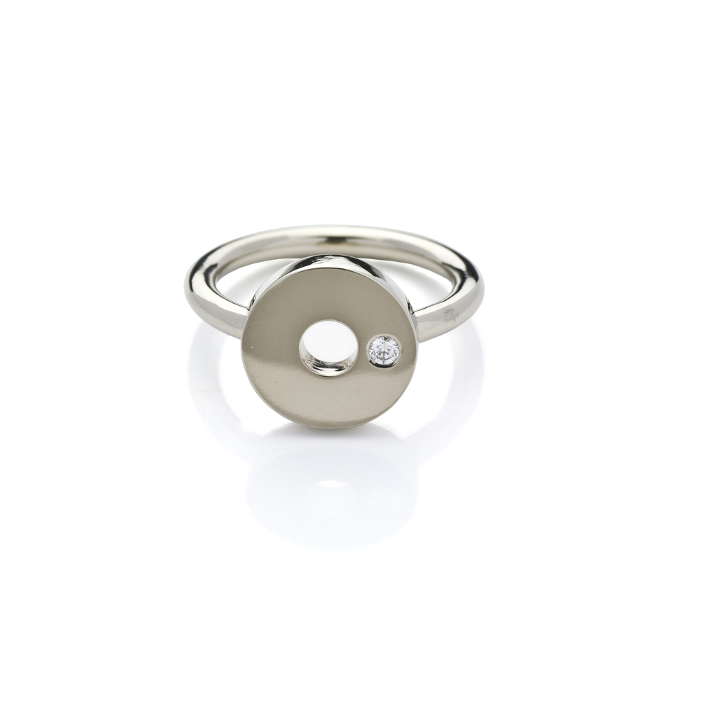 Gobi Ring 18 K white gold brilliant, total carat weight0.035 ct 2,382 LTL / 690 EUR