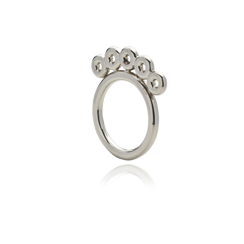 Copper Ring 18K white gold 540 EUR
