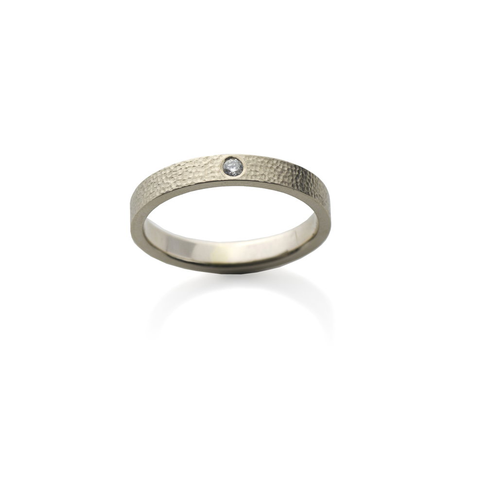 Ring White gold 18 K, diamond