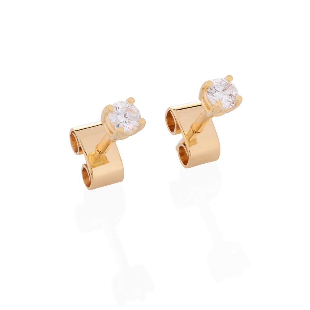 18K yellow gold, brilliant cut diamonds