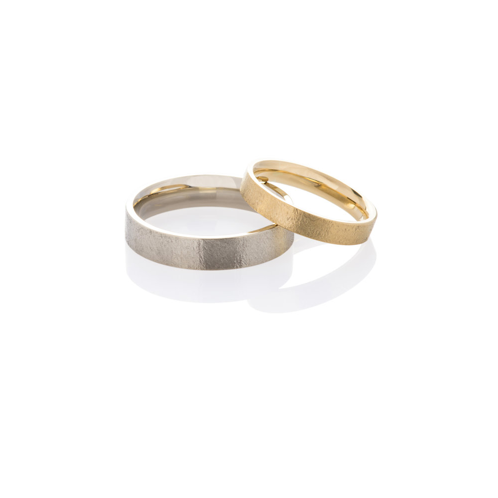 18K white and yellow gold