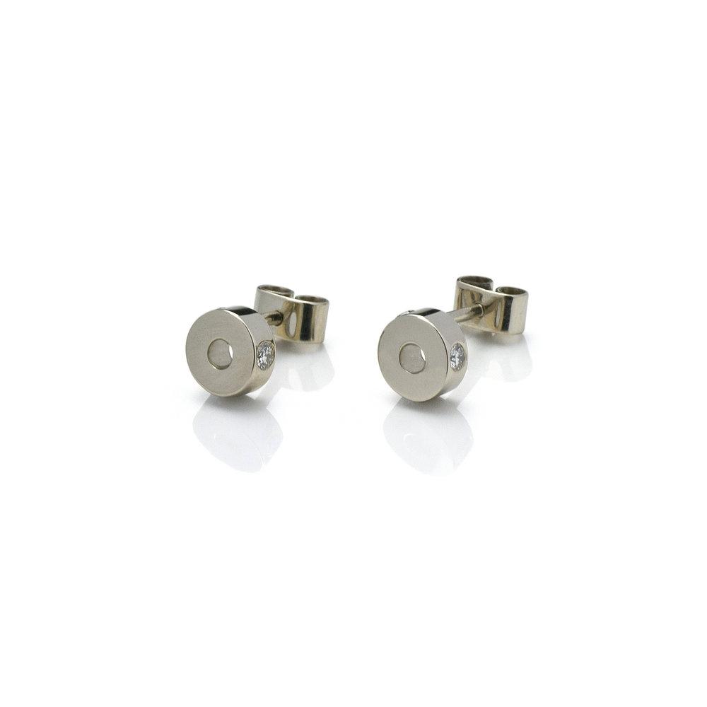 Earrings 'Blue desert' White gold 18 K Brilliant cut diamonds 0.12 ct 980 eur