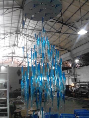 Hand blown glass chandelier.jpg
