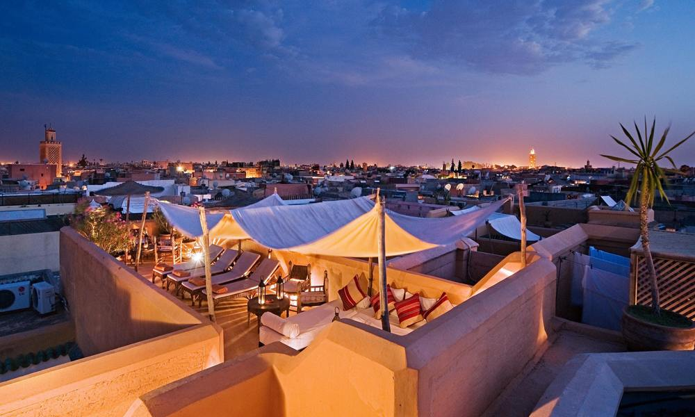 Roof terrace at Cafe Nomad, Marrakech