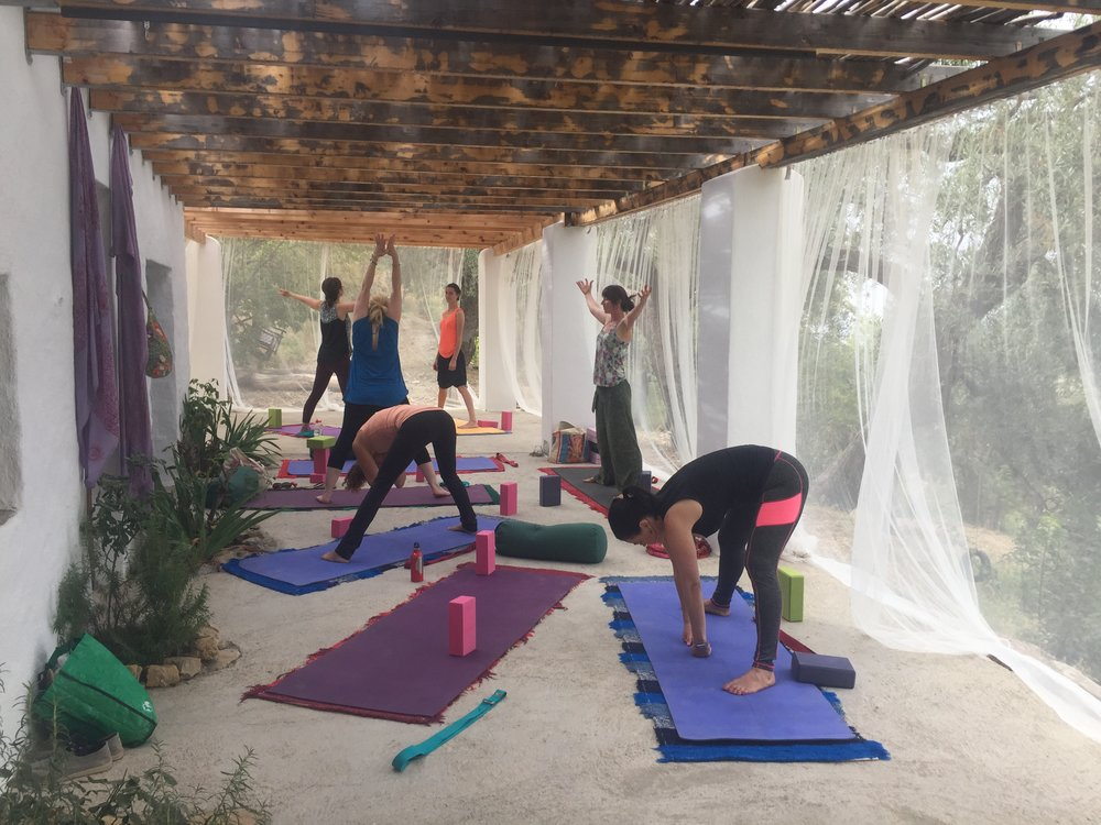 yoga down at the finca