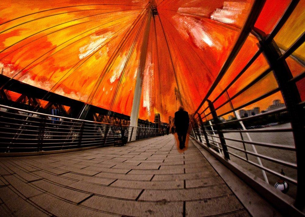 12- A lonely man walks at sunset on Waterloo Bridge copy.jpg
