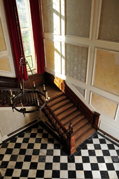 The Great Staircase You leave the Great Hall and enter a cavernous room which soars to the full height of the house and which contains the Great Staircase, a truly grand late 17th century statement.