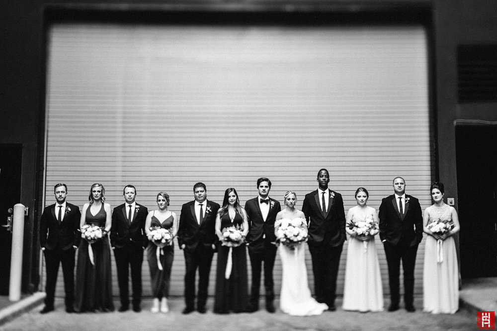 072-black-white-bridal-party-alley-urban-modern-black-white-tilt-shift-natural-light-45mm-indianapolis.jpg