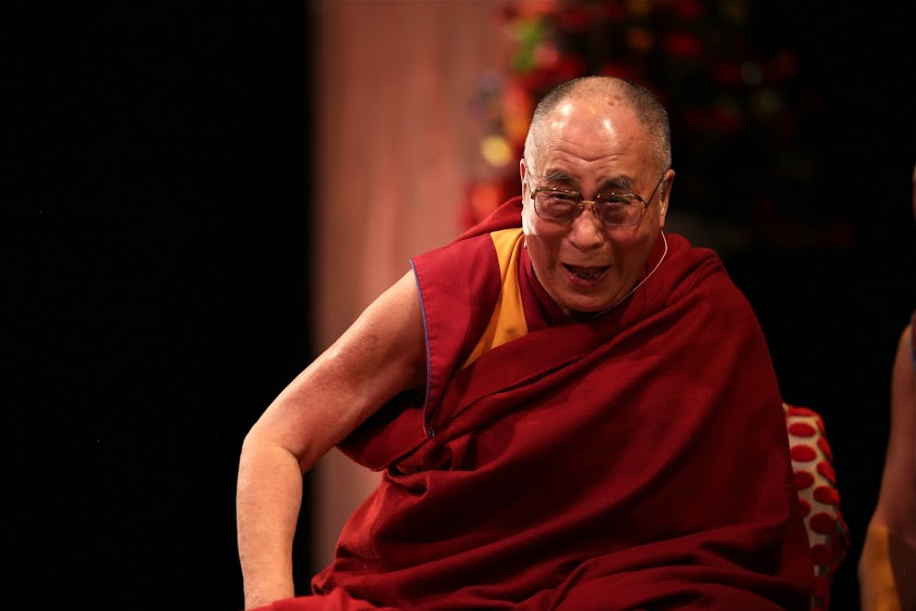 Dalai Lama laughing away