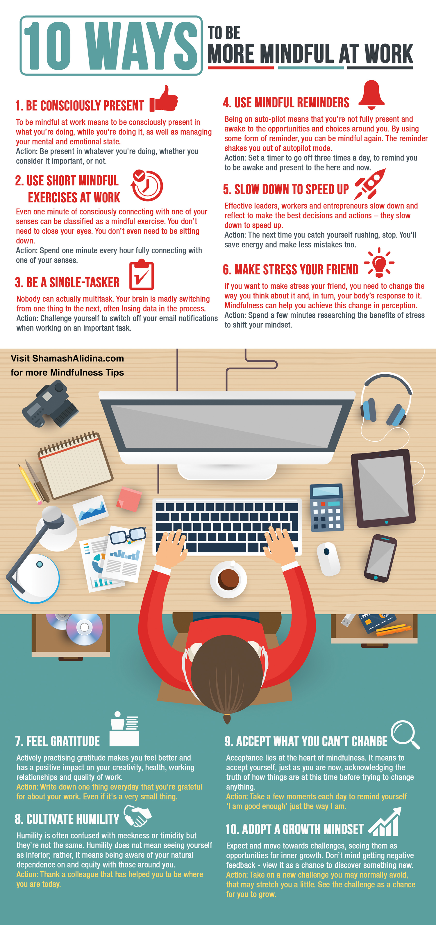 10 Kitchen And Home Decor Items Every 20 Something Needs: [Infographic] 10 Ways To Be More Mindful At Work