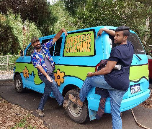 Any of you remember this van from a cartoon? We kept seeing this van wherever we went. Life is, indeed, one big mystery machine. How will you view it?
