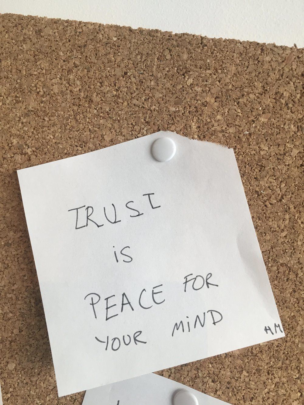 Description: Trust is Peace Post-It