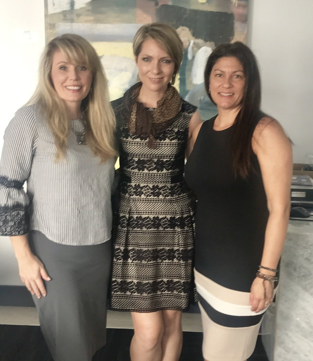 Brandie Dickerson, Erica Castner and Melissa Rocchio at the Dress for Success SW Florida WETES program on August 7.