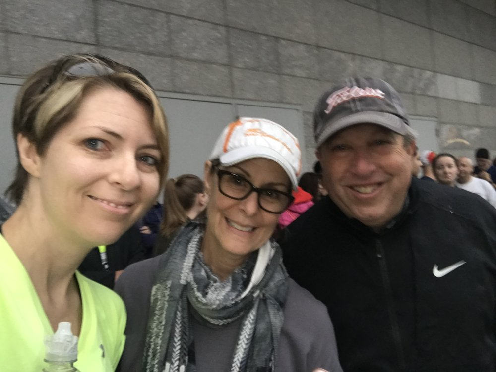 So grateful for my dear friend, Kim Boudreau Smith and her husband Steve for seeing me at the starting line for the Cleveland Marathon.