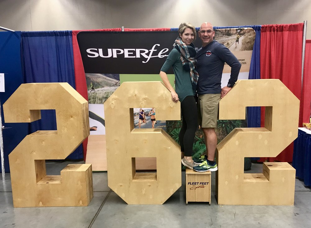 Ed and Erica Castner at the Cleveland Marathon Expo - May 19, 2018
