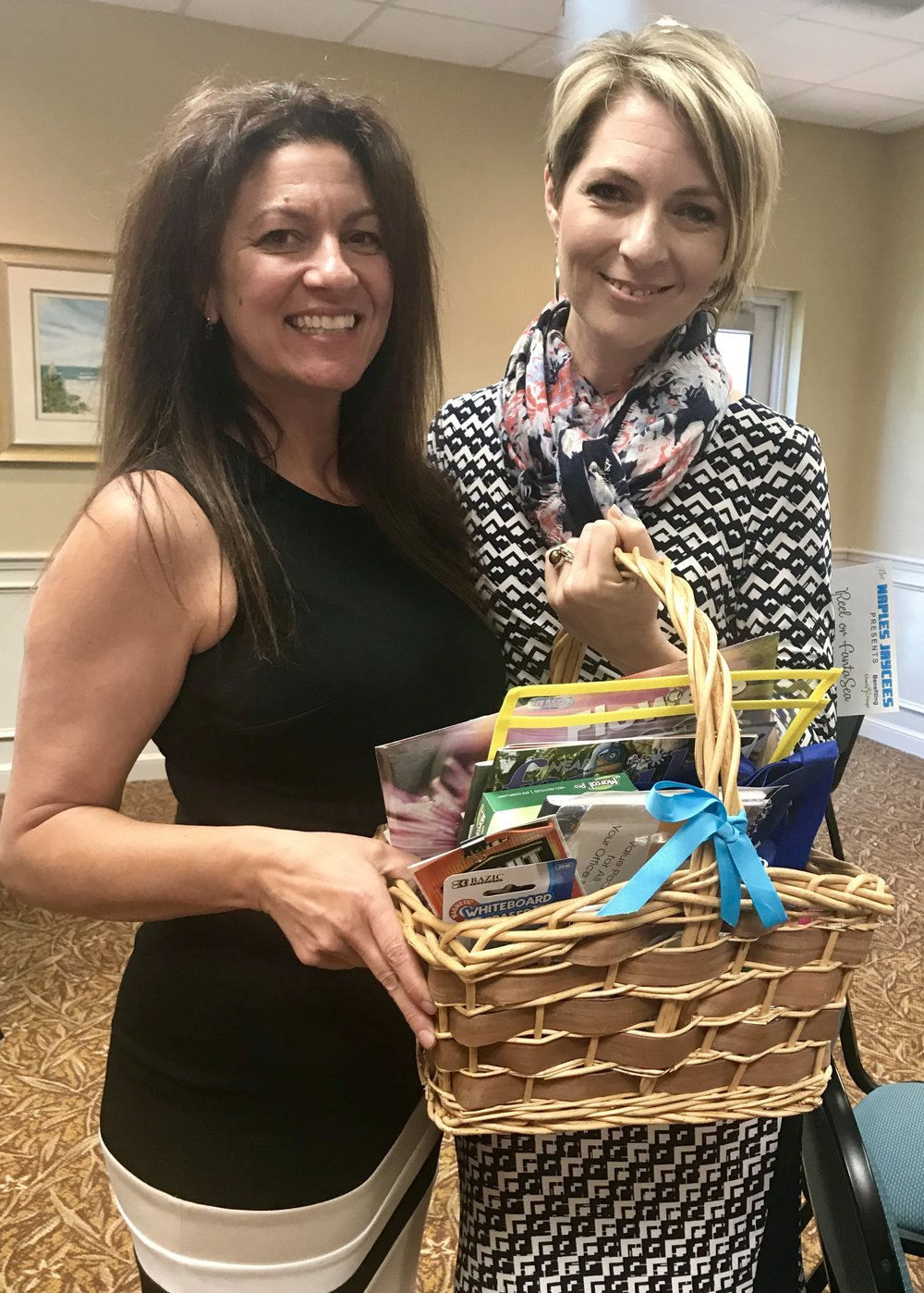 Melissa Rocchio and Erica Castner at Women's Network of Collier County May Luncheon on May 8, 2018.