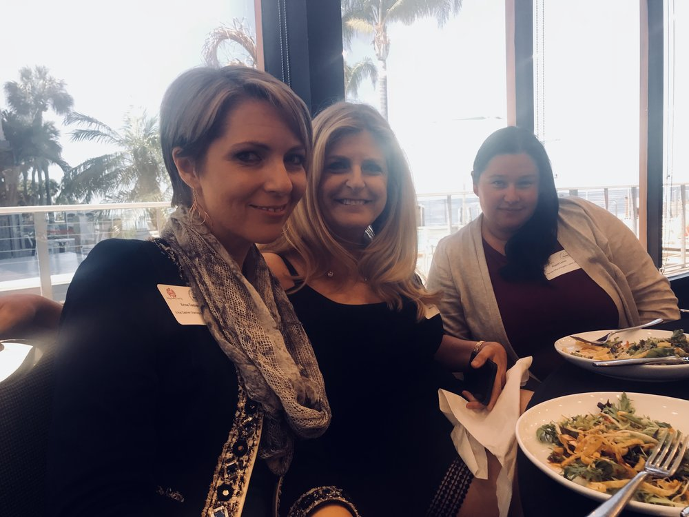 Erica Castner, Lori Piencykoski and Angela Leiner at the Working Women of Tampa Bay Luncheon in Tampa April 12, 2018.