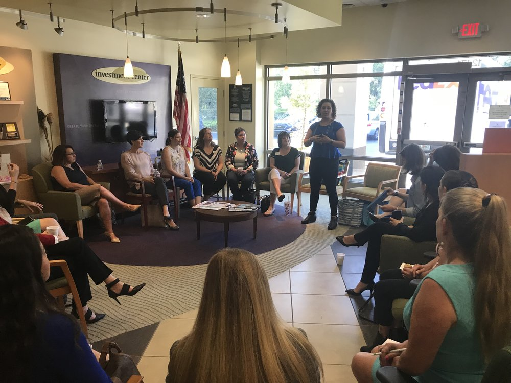 Working Women of Tampa Bay Coffee Connection meeting on April 12, 2018 in Westchase.