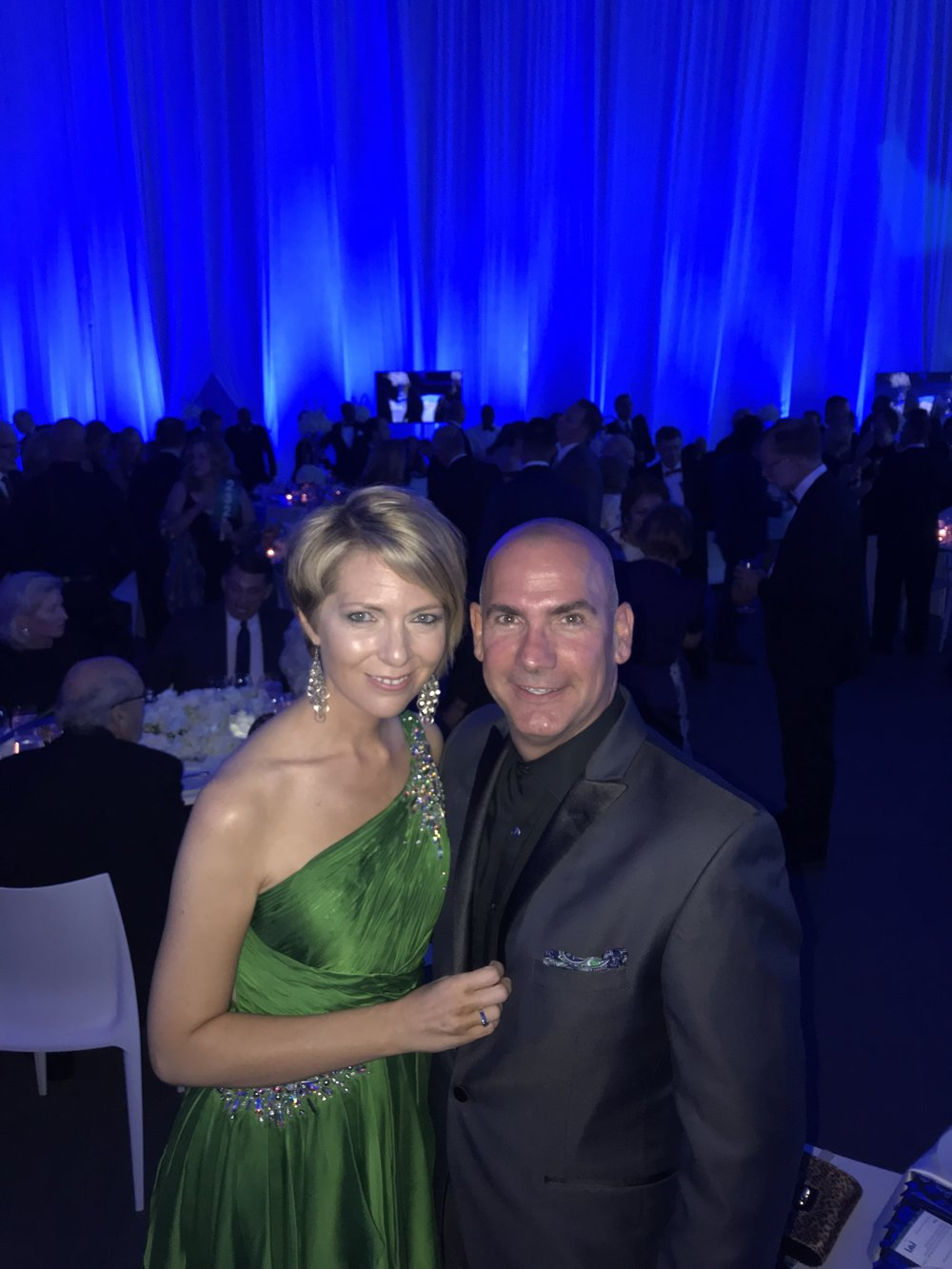 Erica and Ed Castner at the FGCU President's Ball at FCGU in Estero, Florida on April 7, 2018.
