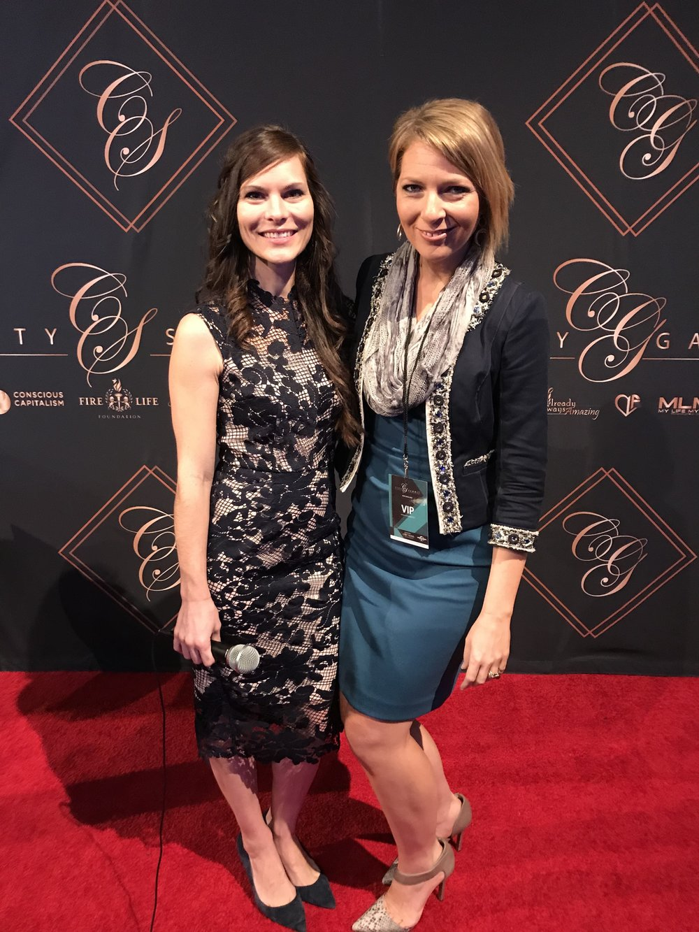Amy Novakovich and Erica Castner at City Summit at Universal Studios in Los Angeles, CA on March 3, 2018.