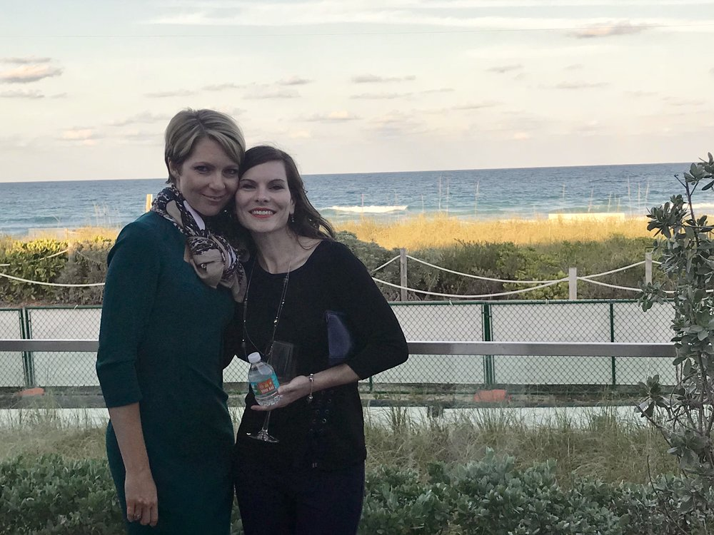 Erica Castner and Amy Novakovich at the Sports & Entertainment Society event in Miami on March 26, 2018