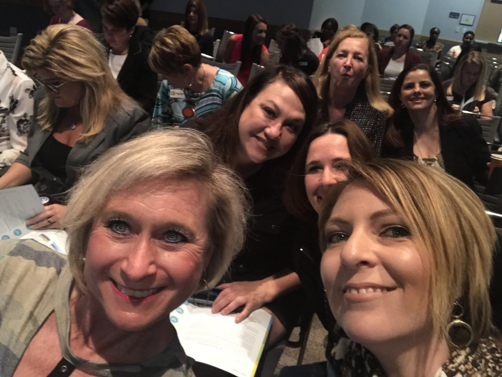 Nicki Reddington and Erica Castner at the Lee County Economic Development Council Women's Leadership Conference at Florida Southwestern College on February 16, 2018