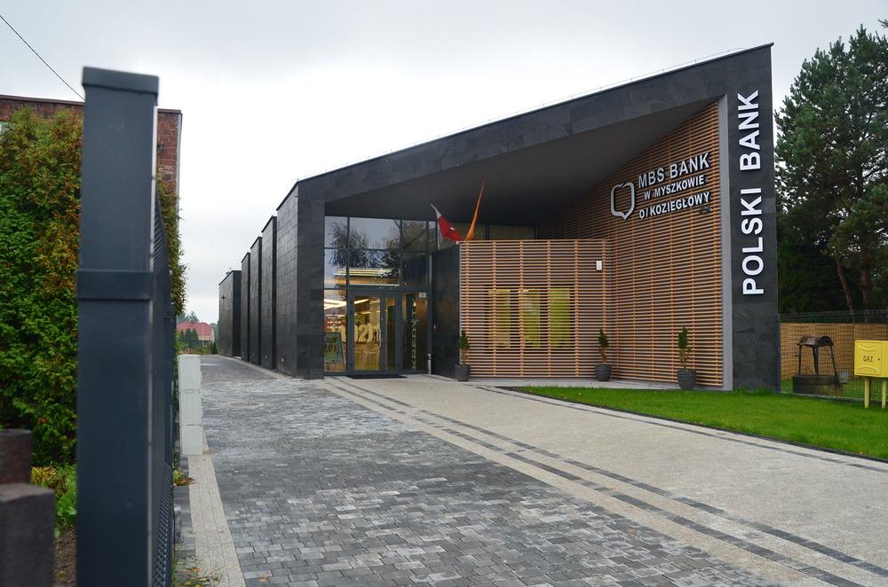 Projekt architektury budynku banku
