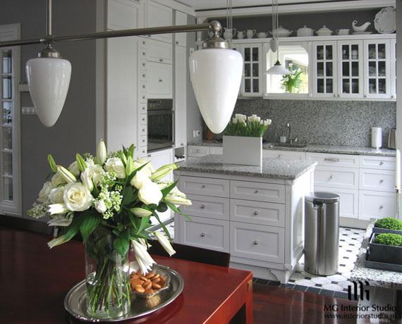 Meble kuchenna ścianie z oknem