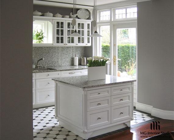 Mały, ergonomiczny projekt mebli kuchennych