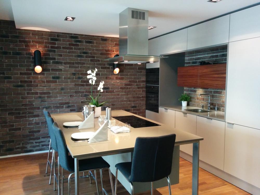 Nowoczesna kuchnia w loftowym stylu
