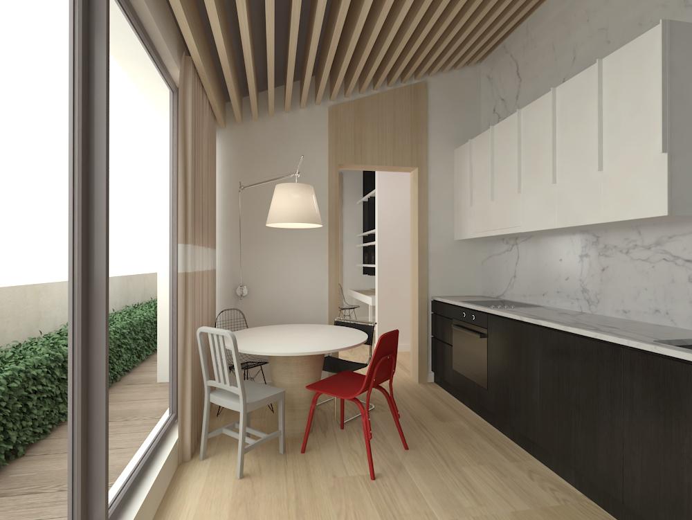 Projekt minimalistycznej kuchni