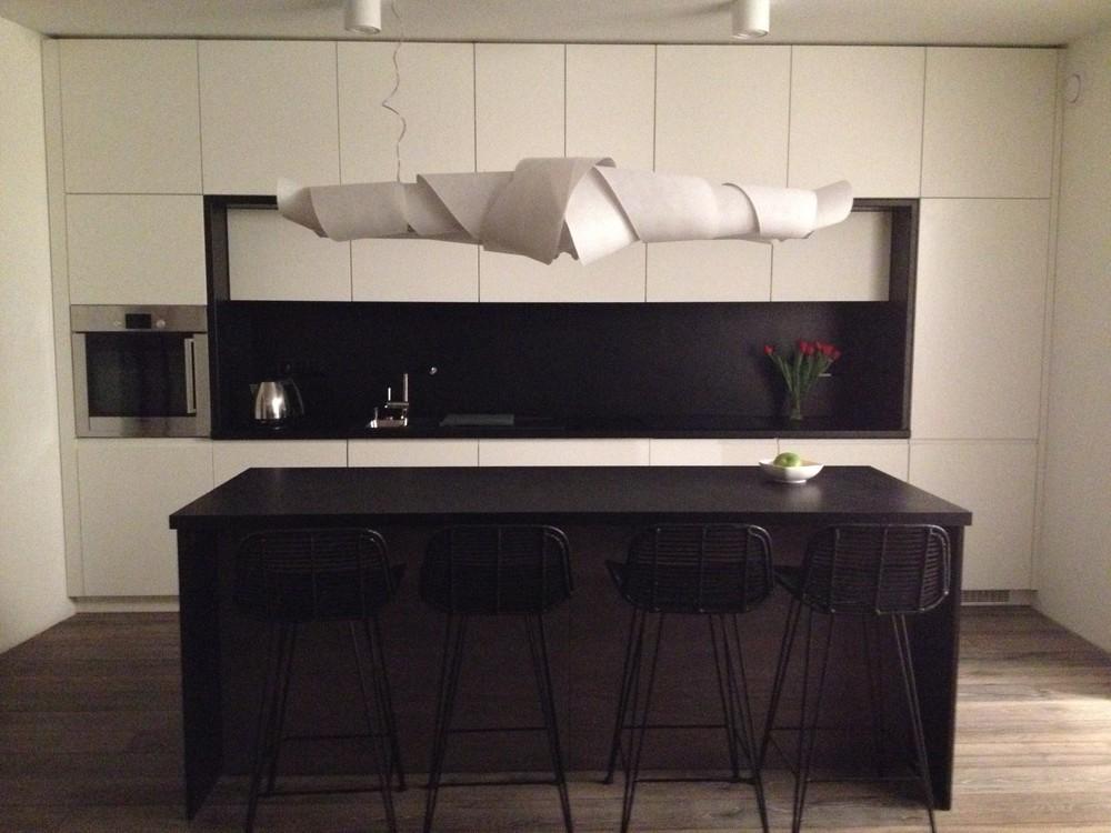 Kuchnie — MG Interior Studio -> Kuchnia Bialo Czarno Drewniana