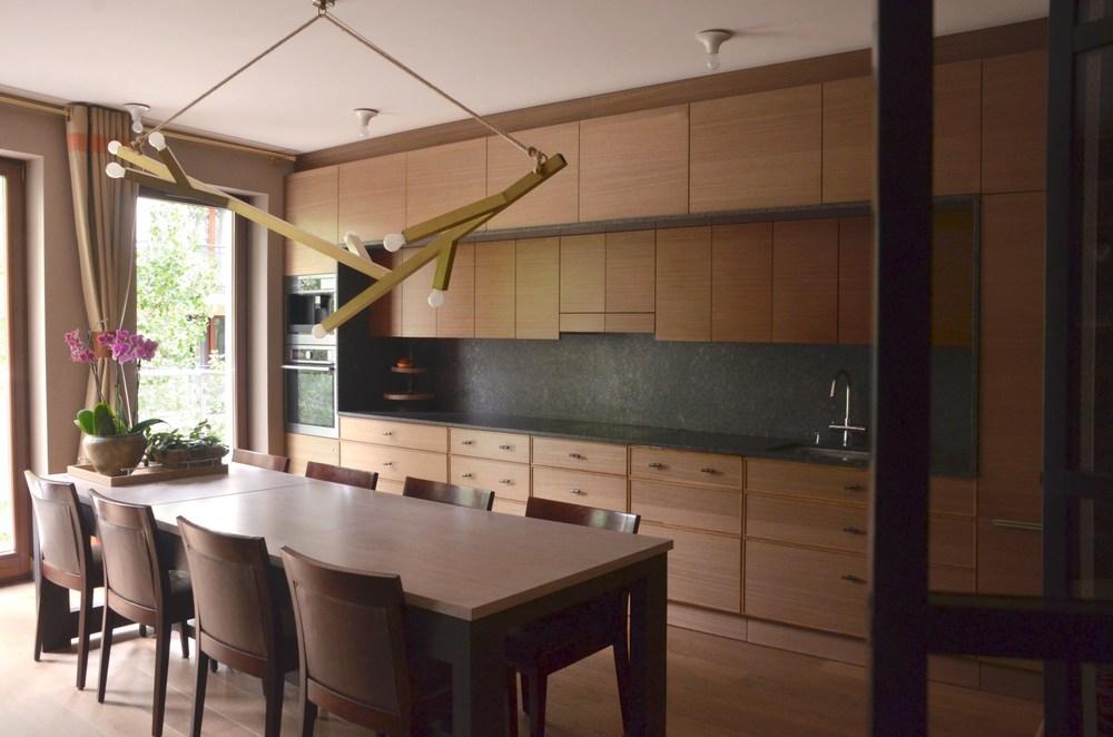 meble kuchenne na jednej ścianie zostały zaprojektowane tak, aby miały jak najwięcej szafek