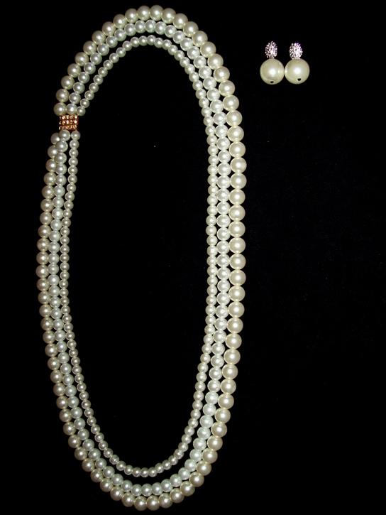 3 strand matinee pearls