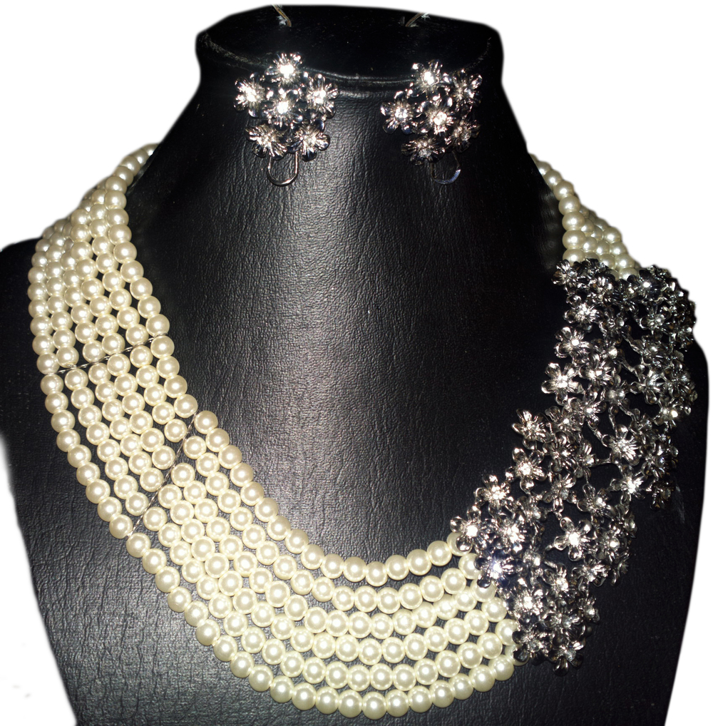6 strand pearl necklace with pendant.jpg