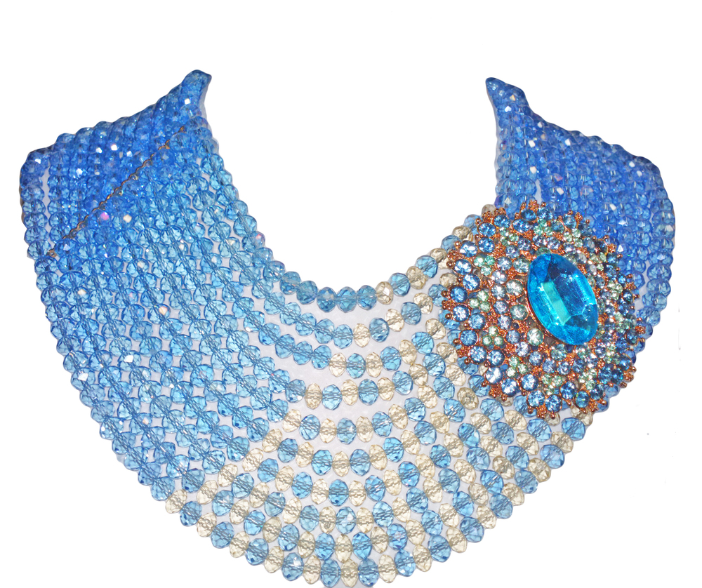 10 strand styled blue oval faceted bead(available in all colors) with optional pendant.jpg