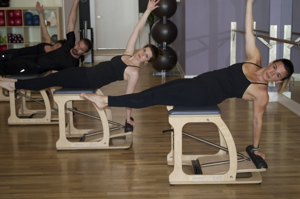 PILATES EQUIPMENT ON THE EXO-CHAIR