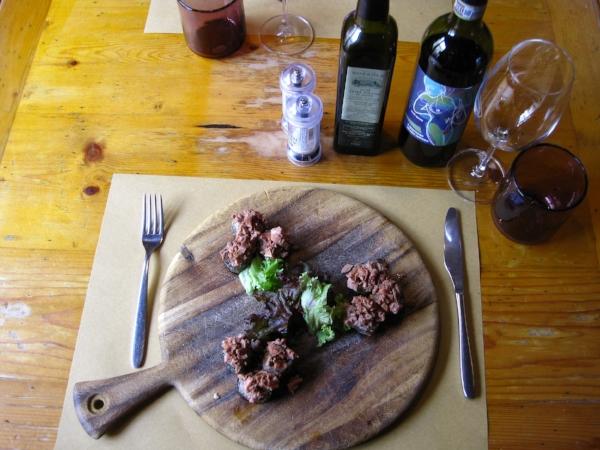 lampredotto sushi at Il Magazzino