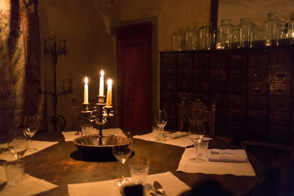 One of the ancient dining rooms underground at Il Locale
