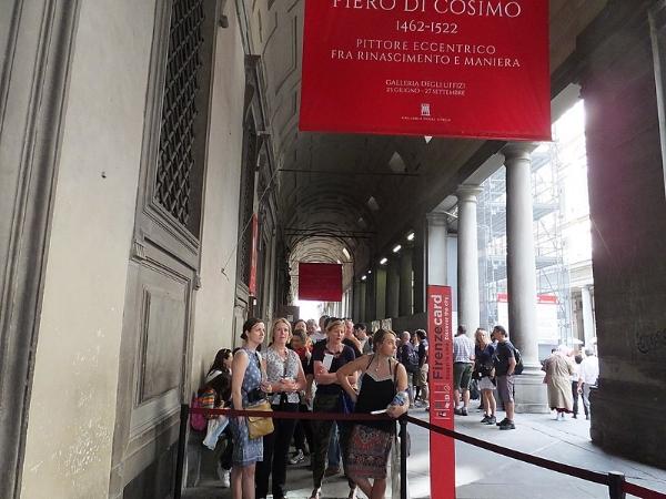 outside Uffizi gallery, souce: wikipedia commons