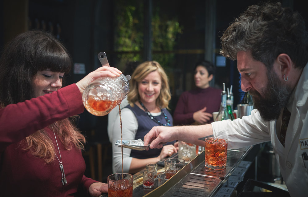 Hands-on Craft Cocktail Lesson with Food Pairings in Florence