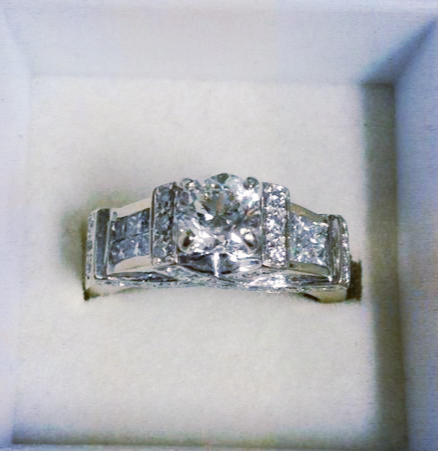 Cross Design Diamond Engagement Ring